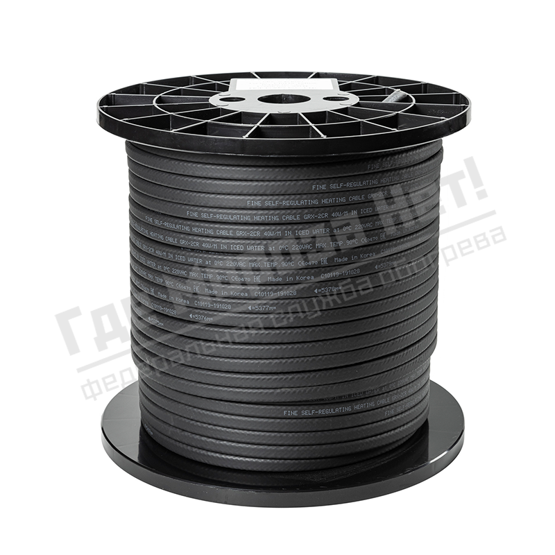 Бухта кабель греющий саморегулирующийся Fine Korea GRX40-2CR (в оплетке, 40 Вт/м)