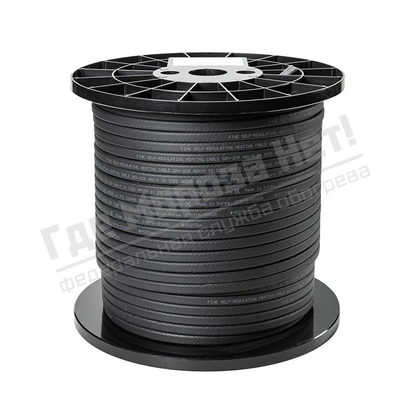 Бухта кабель греющий саморегулирующийся Fine Korea GRX30-2CR (в оплетке, 30 Вт/м)