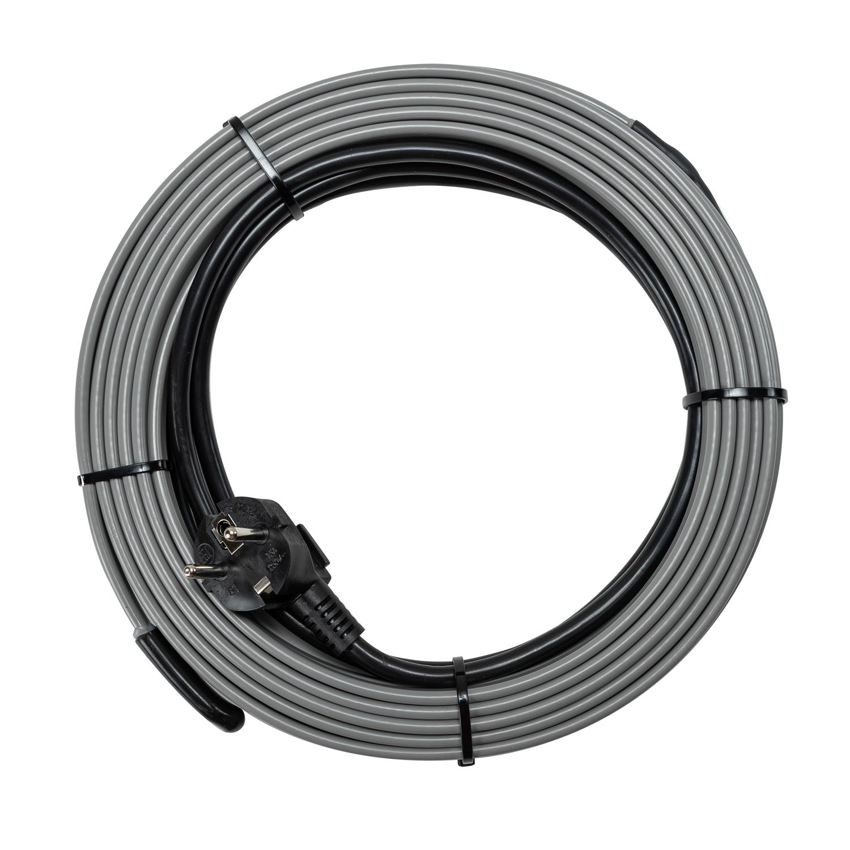 Греющий кабель саморегулирующийся на трубу 16 Вт/м, 128 Вт, готовый комплект, 8 метров