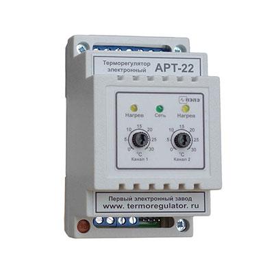 Терморегулятор двухканальный АРТ-22 (0...+120°С), 2 кВт