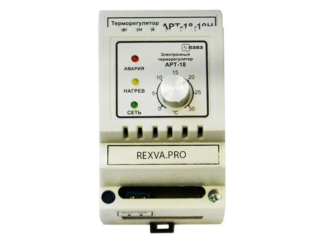 Терморегулятор с аналоговым управлением АРТ-18-10Н (0...+30 C°), 2 кВт